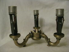 vintage ornate metal lamp part refurbishing 3 arm lights light part