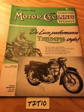 """ Motore Ciclismo "" + "" Scooter Download "" 17 mars 1960 rivista inglese moto"