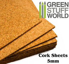 1 foglio sughero pressato 20 X 30 cm spessore 3 mm applicazioni scrapbooking