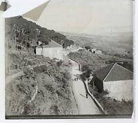 Village Francia Foto Stereo Th1n3 Placca Da Lente Vintage c1920