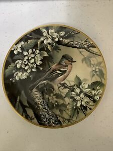 Wedgwood China Bird Plate RSPB Centenary Plate Collection Chaffinch