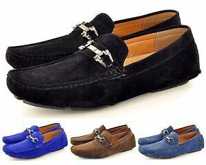 Neuf Hommes Faux Daim Décontracté Mocassins Slip Sur Chaussures Disp. Tailles UK