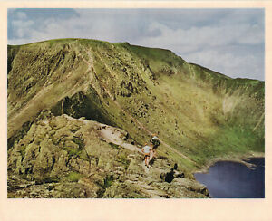 Striding Edge Helvellyn Lake District Cumbria Picture Print 1961 CLPBOTLDIC29