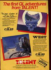 El reino perdido de zkul & West, talento, espectro, 1985 anuncio de revista #17874