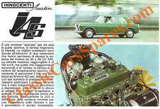 Depliant Brochure Innocenti J4 e J4S 1966 Italiano ORIGINALE
