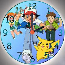 """Wanduhr - Uhr für das Kinderzimmer - Motiv - Pokemon """"blau"""" - Kinderuhr"""