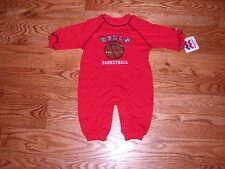 NEW Chicago Bulls Baby Romper Coverall Size 12M 12 Mo Boys Girls Sleeper NBA
