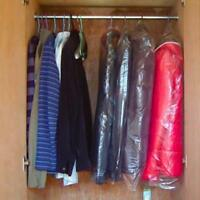 20Stk Kleiderschutzhülle Schutzhülle Kleidersack transparent Mantelschutz 6 C3Y7