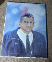 Hand-painted Custom Joe Paterno Painting Penn State Nittany Lions 2002 18x24in