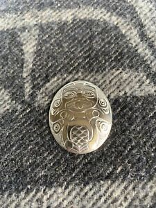 Northwest Coast Native Art (Haida) Sterling Silver Beaver Pendant