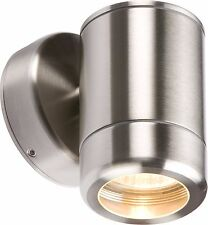 Knightsbridge Stainless Steel Single Fixed GU10 35W Outdoor Wall Light Fitting