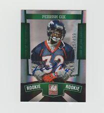 Perrish Cox Broncos 2010 Donruss Elite Turn Of The Century Rookie #166  325/499