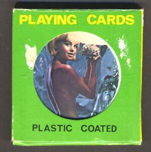 Royal Flushes playing cards, round topless pin-ups, Hong Kong, 1970's