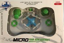 Micro Four Axis Aircraft- blue 2.4Ghz Telecontroller- New