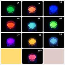 10 Boxes/Set Phosphorescent FLUORESCENT Powder Glow In Dark Nail Art Acrylic