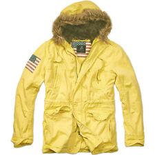 Abrigos y chaquetas de hombre parka amarillos de poliéster