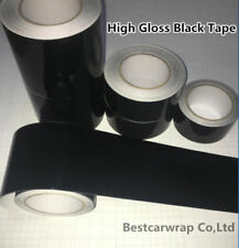 High Gloss Black Film Vinyl Tape , Automotive Grade Tape Car Wrap Bubble Free