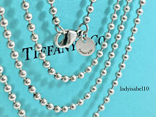 Tiffany & Co Sterling Silver 2.6mm Bead Ball Chain 34.5in Necklace 14.8grv 2064C