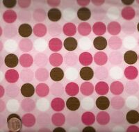 Cozy Cotton pink brown dots Kaufman flannel fabric