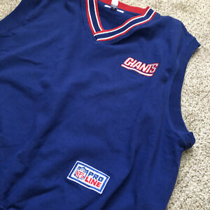 Vintage Pro Line New York Giants Mens Pullover Vest  NFL Size M Sweatshirt