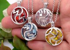KerenEl Silver 925 Pandent Necklace Spiritual 4 Element Air Water Fire Earth