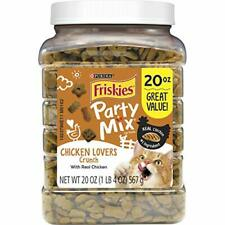 Purina Friskies Made in USA Facilities Cat Treats Party Mix Chicken Lovers Cr...