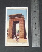 CHROMO 1926 WILLS CIGARETTE CARD EGYPTE EGYPT PROCESSIONAL PORTAL AT KARNAK