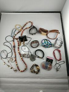 All *DESIGNER SIGNED* Jewelry Lot BOHO Hippy Natural Neutral 20+ pieces *i lot 2