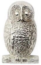 Heavy Nickel-Plated Owl Door Knocker - antique & vintage animal door knockers