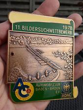 Auto Plakette Automobilclub Baden-Baden - 11. Bildersuchwettbewerb 1978 - ADAC
