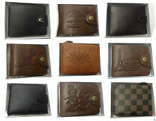 Unbranded Faux Leather Wallets with Photo Holder for Men