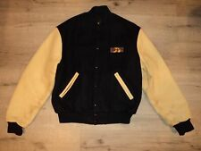 Corvette Embroidered Leather Wool Racing Letterman Jacket Game Sportswear XL