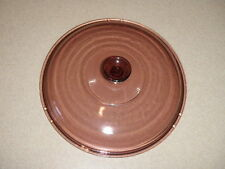 "PYREX Corningware VISION #22 Lid 10"" Inside Lip 101/2"" Dia Round Cranberry Glass"