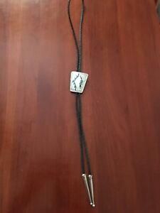 Native American Style Silver, Turqoise Coral Bolo Tie
