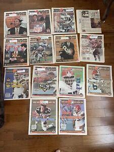 1999 Cleveland Browns News Illustrated Magazine Paper NFL 13 Issues + Bonus