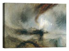 William Turner Steam Boat off a Harbour's Stampa su tela Canvas effetto dipinto