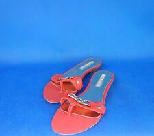 BUFFALO Damen Sandalen TUMBLE CALF Zehenstick Schuhe Rot Gr 40 Leder NP 49 Neu