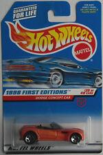 Hot Wheels – DODGE CONCEPT CAR orangemet. Nouveau/Neuf dans sa boîte US-Card