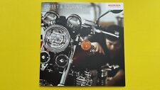 Honda Street Touring CB1100RS NC750S CB Gold Wing motorcycle brochure 2017 MINT
