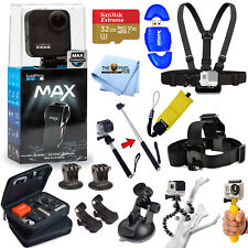 GoPro MAX 360 Action Camera All In 1 PRO ACCESSORY KIT W/ 32GB SanDisk + MORE