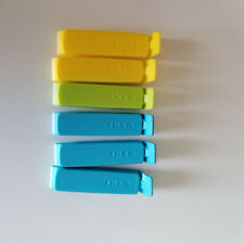 6 x IKEA Bevara Multi-Color Food Storage Bag Sealing Clips