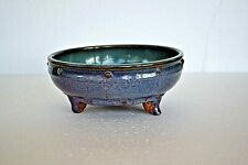 VERY RARE ANTIQUE 10-12th? C CHINESE JUN VARE NARCISSUS POTTERY BOWL WITH 3 FEET