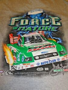 John Force Racing T-shirt, AWESOME GRAPHICS, Size Med,  NHRA Drag Racing