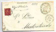 K310-MARCHE-MONTEFANO ANNULLO NUMERALE A SBARRE 1884