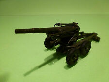 DINKY TOYS 80E OBUSIER 155mm GUN - FRANCE ARMY GREEN 1:55 - VERY GOOD - MILITARY