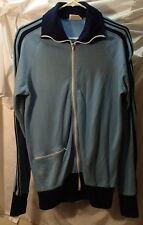 Jaguar Light Blue Vintage Tennis Warmup Acrylic Jacket Mens Size Large