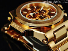 Invicta Mens 58mm Reserve AKULA PRESTIGE Swiss Chrono BROWN Dial Rose Tone Watch
