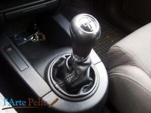 Cuffia leva cambio Audi A2 vera pelle nera