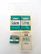 SALEM KOOL CIGARETTES Playing Cards Lighter 4 Pieces Vintage Tobacciana