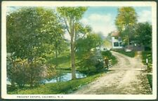 1921 CALDWELL NJ, PROVOST ESTATE ROAD SCENE, 1¢ PILGRIM STAMP TIED, VF